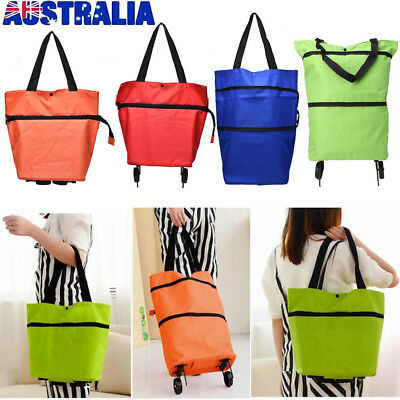 NEW Foldable Folding Wheeled Lightweight Shopping Trolley Grocery Bag On Weels