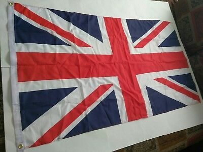 "Used 60.5""x35"" Great Britain Flag, Red/White/Blue"