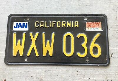 Vintage 1963 California Black License Plate