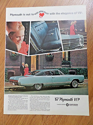 1967 Plymouth VIP Coupe Ad  Elegance
