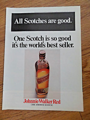 1968 Johnnie Walker Red Whiskey Ad  It's the World's Best Seller