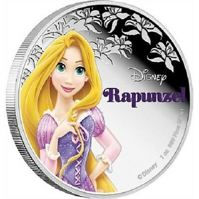 2015 $2 Niue - Disney Princess - Rapunzel - 1oz Silver Proof Coin - NZ Mint