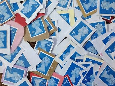 100 2nd Class Unfranked Stamps On Paper