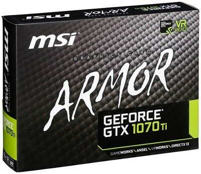 MSI GeForce GTX 1070 Ti Armor 8GB Graphics Video Card 5% off with PENNY5