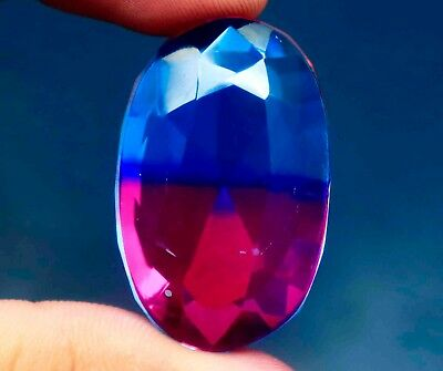 69.70Ct EGL Certified Multi Color Ametrine Attractive Oval Shape Gemstone BY2360