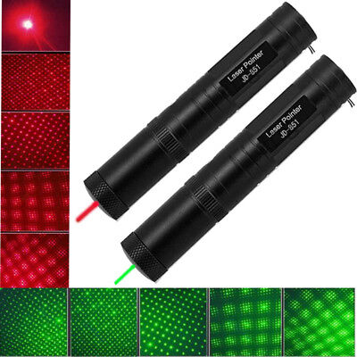 Military Powerful Green+Red 1MW Laser Pointer Pen Light Visible Beam Adjust Zoom