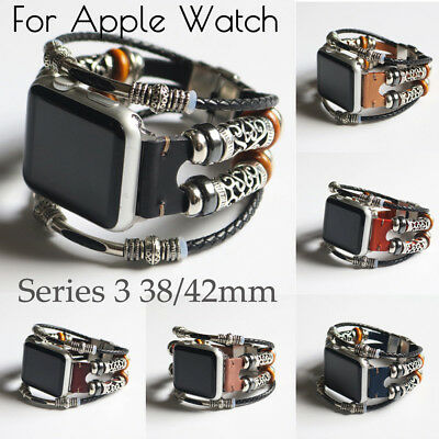 Fashion Leather Wristband Band Strap Bracelet For Apple Watch Series 3 38/42mm K