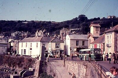 35mm SLIDE :BYGONE BRITAIN : SOUTHERN BRITAIN SEASIDE TOWN & PERIOD BUS 1960's