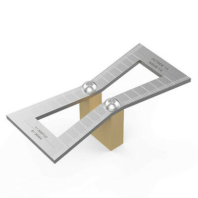 Dovetail Marker, Hand Cut Wood Joints Gauge Guide Tool with Scale, Template SiI6