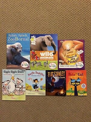 Lot Of 7 Chick-fil-a And Mcdonald's Mini Story Books Pete The Cat Flat Stanley