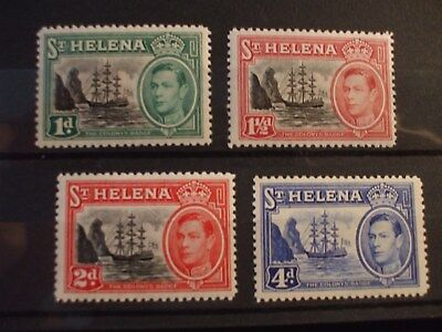 ST HELENA - 1938 KGVl Issue Part Set of 4vs MH Cat 15.50 (12S)