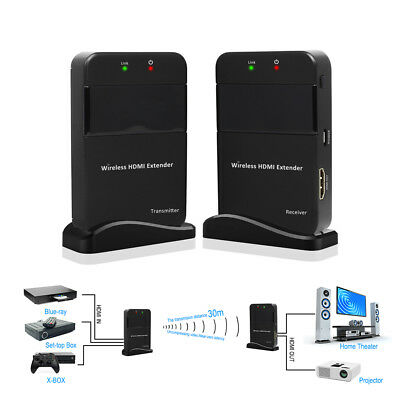 50m Wireless Extender HDMI 1080P HD TV Video Deliver Transmitter Receiver AH269