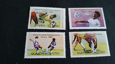 Uganda 1986 Sg 505-508 World Cup Football. Mnh