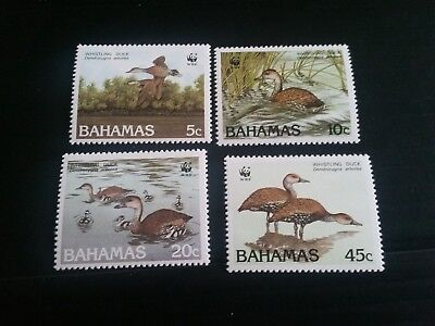 Bahamas 1988 Sg 824-827 Black-Billed Whistling Duck Mnh (A)
