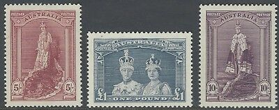 1938 KGVI 'ROBES' Set MNH Thick - SG 176, 177, 178 - Excellent