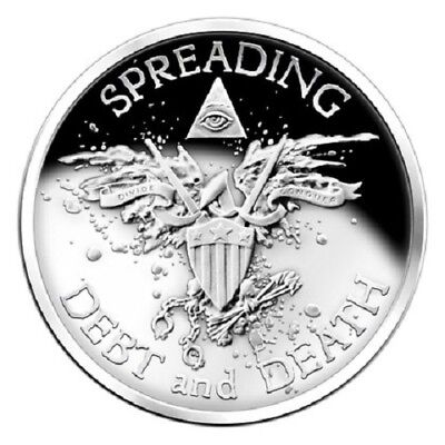 2 oz silver coin - 2014 Warbird 999 silver (Proof like) medallion- Silver Shield