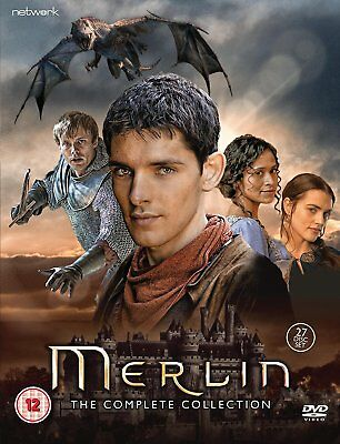 MERLIN Stagioni 1-5 Collection Complete BOX 27 DVD in Inglese NEW .cp