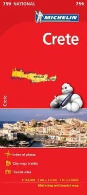 Crete - Michelin National Map 759 Map 9782067173255 (Sheet map, 2012)