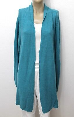 Eileen Fisher Duster Cardigan Tunic Cover-Up Knit Sweater Artsy WOOL 3X