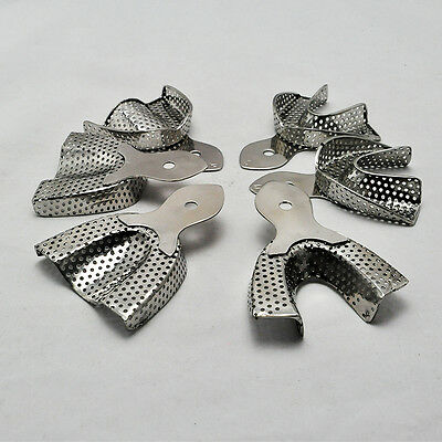 6PCS/Pack Dental Stainless Steel Anterior Impression Trays Dental Supplies