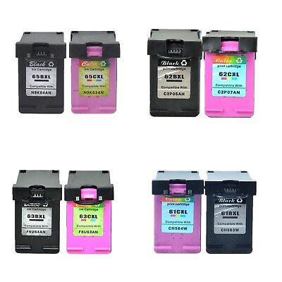 Black Colour Ink Cartridge 65XL 65 XL 63XL 63 XL 62XL 62 XL 61XL 61 XL for HP