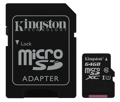 For GoPro Hero+LCD Action Camera 64GB micro SD XC Memory Card