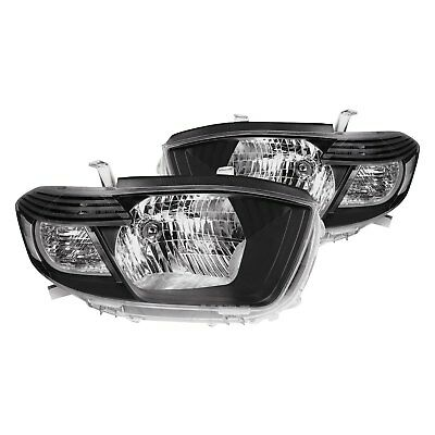 For Toyota Highlander 2008-2010 Lumen 87-1002326 Black Factory Style Headlights