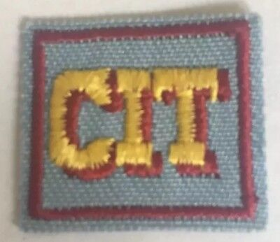 Girl Scouts CIT Badge Patch Collectible Blue Red Badge GS Counselor in Training
