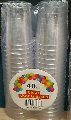 Clear Shot Glasses 150 Pcs 30ml Color Plastic Disposable Tasting Sample Sydney