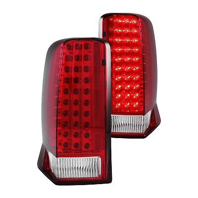 For Cadillac Escalade 2002-2006 Anzo 311120 Chrome/Red LED Tail Lights
