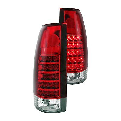 For Cadillac Escalade 1999-2000 Anzo 311057 Chrome/Red LED Tail Lights