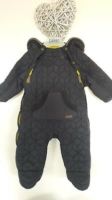 baby boys ted baker snow suit  / 0-3 months / navy / quilted / great condition