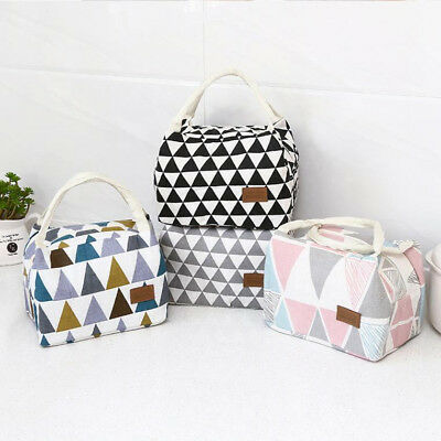 Portable Thermal Insulated Lunch Box Tote Cooler Bag Bento Pouch Lunch Bags NEW