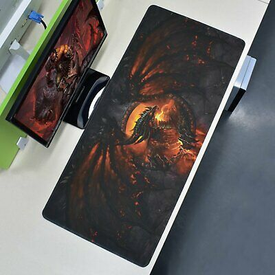 Extra Large XXL Gaming Mouse Pad Fire Dragon Desk Mat Computer Keyboard 90x40cm