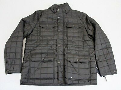 Tommy Hilfiger Men's Four-Pocket Quilted Jacket GG8 Black Size XL NWT $225