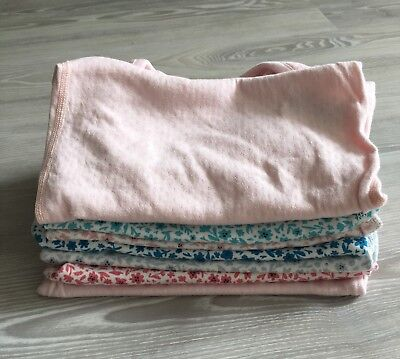 M&S 7 x baby girl long sleeve body suits (12-18 months). Good condition