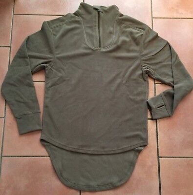 British Army Issue Thermal Combat Undershirt Olive Half Zip Fleece SIZE 170//90 M
