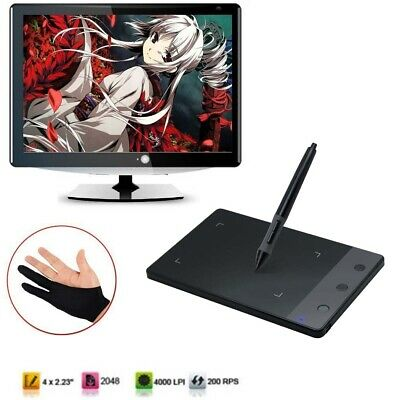 "Signature Pad Board Graphics Pen Tablet Drawing Huion H420 Digital 4 x 2.23"" UK"