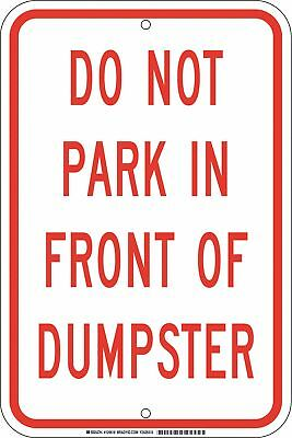 """Parking, Do Not Park, Aluminum, 18"""" x 12"""", With Mounting Holes, not reflective"""