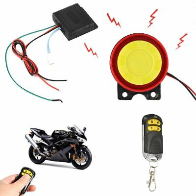 Warner Engine Start Alarm System Motorcycle Anti-theft Security Remote Control
