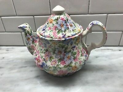 Laura chintz Teapot made in Staffordshire England