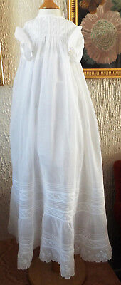 Vintage Lace/lawn/embroidery Baby Christening Gown