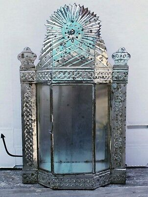 Mexican Tin Nicho With Glass Door