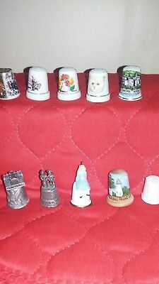 10 Various Assorted Thimbles
