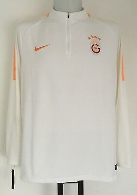 Galatasaray White Squad Drill Top By Nike Size Adults Xl Brand New With Tags