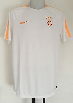 Galatasaray White Pre Match Shirt By Nike Size Adults Xl Brand New With Tags