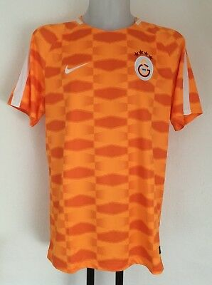 Galatasaray Orange Pre Match Shirt By Nike Size Adults Xl Brand New With Tags