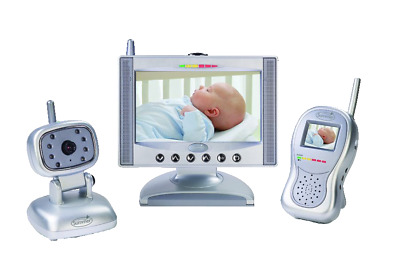"""Summer Infant Complete Coverage Color Video Monitor Set with 7"""" LCD Screen. EUC"""