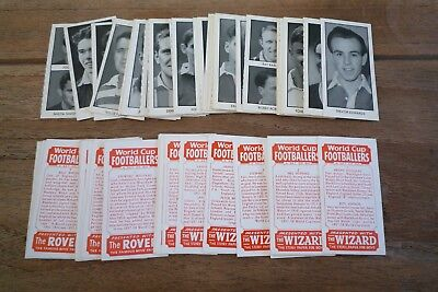 D.C Thomson - World Cup Footballers 1958 VGC! - Pick & Choose The Cards You Need