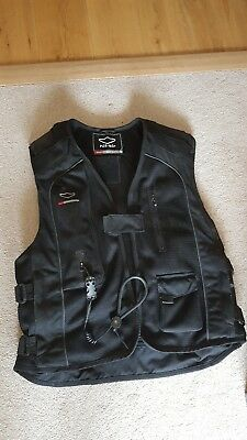 Hit Air jacket, Medium, black with instructions, tools, lanyard and gas cylinder